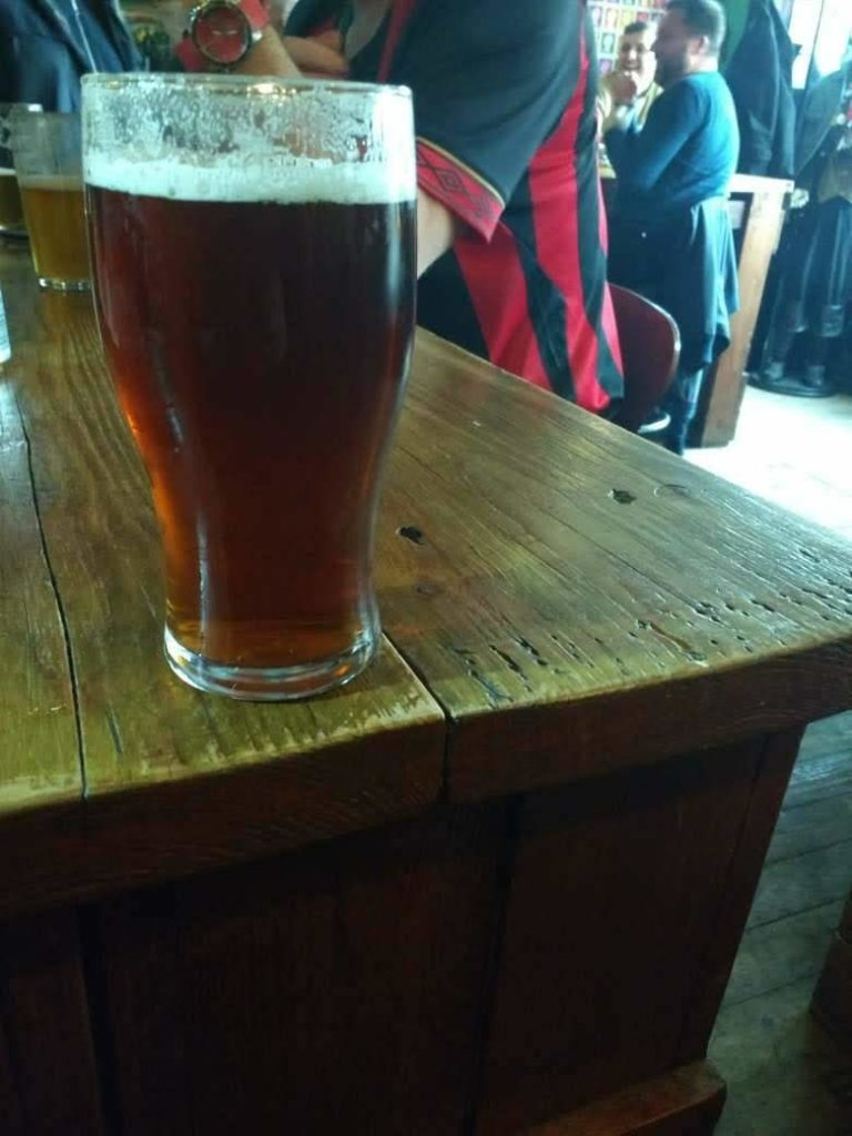 Gadds No.5 beer at the Firkin Shed
