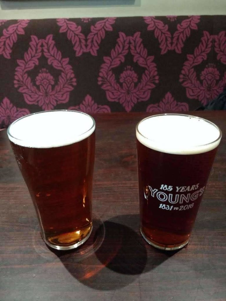Young's bitter and Young's special, Buckingham Arms in Petty France, London